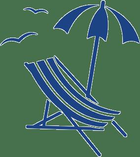 Dentista en Alcorcón y Móstoles - Clínica Stoma - icono horario de agosto azul